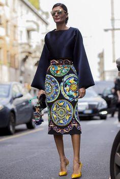Giovanna Battaglia, Milan Fashion Week spring/summer 2015