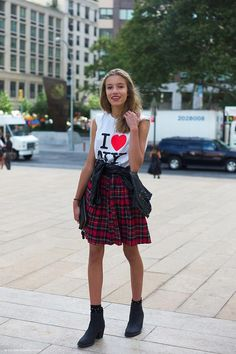 90s Cool NYFW. Prints in street style