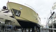"""Motoryacht XOne Hull #transformation. Motoryacht XOne Hull transformation 'Your fitters are the most professional guys I have seen.  They worked carefully and quickly - everything is straight and perfect, there is nobody doing this as well as the @WildGroup"""" #Captain, MY XOne. Motoryacht Xone, 30m yacht commissioned by @MonacoMarine was last week wrapped in a beige gloss by the team."""