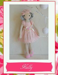Collectible doll Elegant crochet doll child friendly от chepidolls