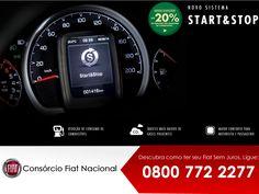 """#UnoSporting   Fiat é a primeira fabricante a equipar um automóvel nacional com o Start&Stop. Este recurso """"verde"""" de última geração chega a economizar até 20% de combustível*  além de reduzir significativamente a emissão de gases, contribuindo com o meio ambiente.  Com funcionamento simples, o sistema desliga o motor automaticamente durante paradas. Ao pressionar o pedal da embreagem, o motor é ligado automaticamente. Simples assim: parou? Desligou."""