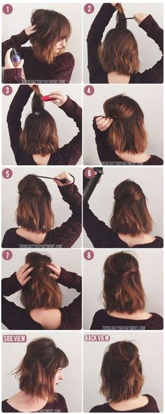 Short Hair Styles You Can Do In 10 Minutes or Less - Short Stack - Easy Step By Step Tutorials For Growing Out Your Hair, For Shoulder Length Hair, For The Undo, The Pixie, For Round Faces, The Bob, For Women That Are White And African American. For Over 50, For Over 40, For Wedding, And With Bangs - http://thegoddess.com/quick-short-hair-styles