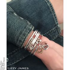 Show the Love this Valentine's Day with Lizzy James' Double Love + Open Heart Charms!  Shop Lizzy James' Handmade USA Leather Wrap Bracelets & Necklaces.  Choose from 50+ leather colors & 60+ designs! http://lizzyjames.com/products/open-heart-tricolor-trio-charm-set  #LizzyJamesInc #ValentinesDay