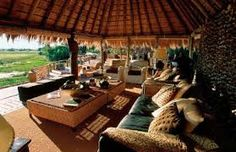Luxury safari lodges in Africa. It's camping folks - but not as we know it! Campaign Furniture, Game Lodge, Colonial Style Homes, Camping Glamping, Outdoor Furniture Sets, Outdoor Decor, Lounge Areas, Warm Colors, Lodges