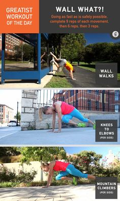 Greatist Workout of the Day: Friday, August 14th — Sprint to the nearest wall, and get sweating with today's workout! #fitness #bodyweight #workout #greatist