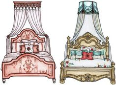 Canopy Designs for a Little Girls Room.  Boutique Home Chicago