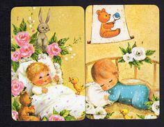 Vintage Swap Cards - Lovely Baby Girl & Boy x 2 (BLANK BACKS)   eBay