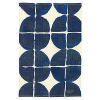 Dot-Grid Printed Cotton Mat - eclectic - outdoor rugs - - by West Elm Graphic Patterns, Print Patterns, Potato Print, Potato Stamp, West Elm Bedding, Cotton Mats, Blue Bath Mat, Modern Area Rugs, Art Graphique