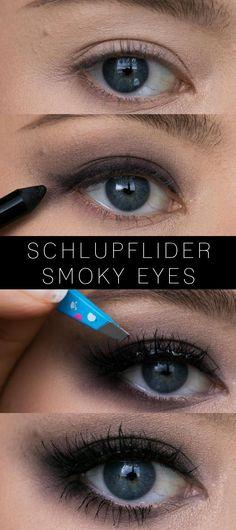 Smoky Eyes for drooping eyelids - tips, tricks and tutorial C .- Smoky Eyes for drooping eyelids – tips, tricks and tutorial! make-up eyelids Eye Makeup Tips, Smokey Eye Makeup, Beauty Makeup, Makeup Ideas, Makeup Hacks, Hair Beauty, Drooping Eyelids, Life Hacks, Smoky Eyes