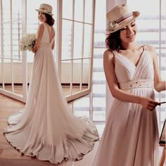 Cheap Elegant White Goddess V Neck Maternity Long Beach Wedding Dresses SKU-118144
