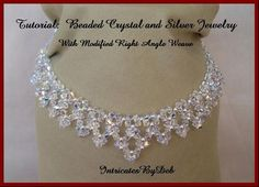 Tutorial Beaded Modified Right Angle Weave Drop Necklace &