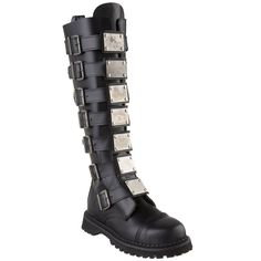 Demonia Men's 'Reaper-30' Metal Strap Boots