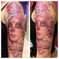 Living Dead Girl / Funeral Mask Tattoo