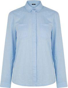 Womens powder blue shirt from Oasis - £34 at ClothingByColour.com