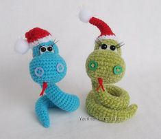 "Christmas Snake Amigurumi - Free Dutch and English Pattern - PDF Format - Click ""download"""