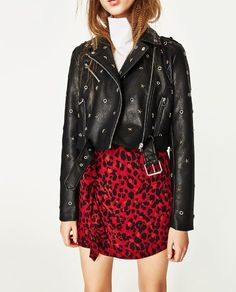 Image 5 of BIKER-STYLE JACKET WITH STARS AND STUDS from Zara