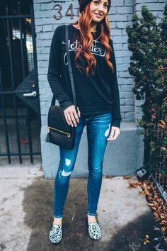 casual graphic sweatshirt