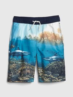 ca239a2a6d Gap Kids Stripe Board Shorts in 2019 | Products | Gap outlet stores ...
