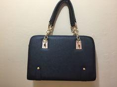 Fashion Womens PU Leather Padlock Tote Handbag