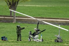 WASHINGTON — Police arrested a man who steered his tiny aircraft onto the West Lawn of the U.S. Capitol after flying through restricted airspace around ...