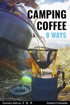How To Make Camping Coffee: 8 Ways Without An Electric Coffee Maker 5th Wheel Travel Trailers, Electric Coffee Maker, Camping In Illinois, Ways To Make Coffee, Best Coffee Maker, Camper Van Conversion Diy, Camping With Kids, Camping Ideas, Camping Coffee