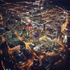 Downtown Edmonton #yeg, on a rainy Dec  night... wait a sec....Whatthe?