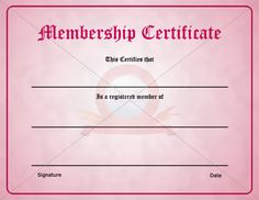 Download and use one of our membership certificate template as a way ...