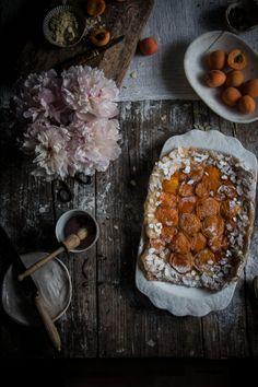 earl grey poached apricot tarte tartin - twigg studios