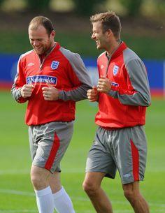 David Beckham Wayne Rooney Photos: England Training & Press Conference