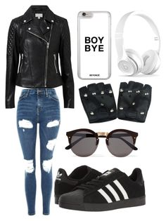 Edgy by hannahefoster233 on Polyvore featuring polyvore, fashion, style, Witchery, Topshop, adidas, Illesteva and clothing