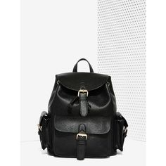 Hitch a Ride Vegan Leather Backpack ($68) ❤ liked on Polyvore featuring bags, backpacks, slouchy backpack, drawstring backpack, vegan backpack, day pack backpack and white drawstring bag