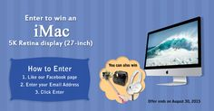 Hi everyone , Like Solution Inn Facebook page and get a  chance to win Grand prize of Apple iMac 27' inch with 5K retina display . Share and invite maximum friends to increase your chances of winning.