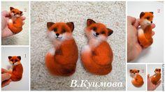 """Купить Брошь """"Лиса"""" - лисенок, лиса, рыжий лис, Валяние, валяная игрушка, валяние из шерсти"""