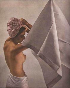 Linen Towel - Leron Kodachrome - Louise Dahl-Wolfe