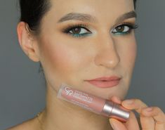 Golden Rose Soft & Matte 103 | Makeup for brown eyes | cat eye | summer makeup Summer Makeup, Brown Eyes, Cat Eye, Lipstick, Rose, How To Make, Beauty, Lipsticks, Pink