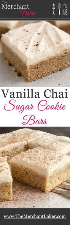 [ Vanilla Chai Sugar Cookie Bars ] - Chai Spice Cookie Bars Bar Cookies,Chai Cookie Bars With Vanilla Bean Glaze Lexi S Clean Beaux Desserts, No Bake Desserts, Just Desserts, Delicious Desserts, Dessert Recipes, Yummy Food, Diabetic Desserts, Bar Recipes, Veggie Recipes