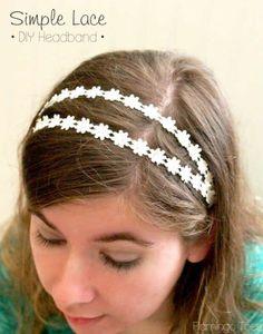 Super Simple DIY Lace Headband