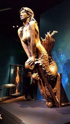 Mermaid Ships Figurehead, Wood Carving