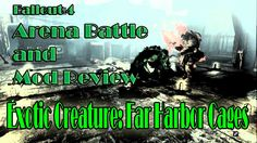 Let's Play Fallout 4 Mod Review and Arena Battle Strong VS Far Harbor Cr...