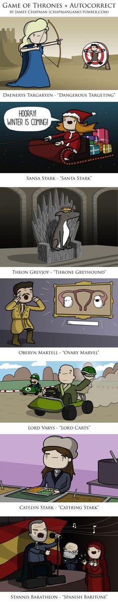 Game Of Thrones Autocorrect