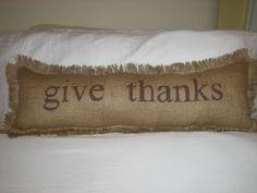 Burlap freezer paper transfer pillow. Oh the possibilities!