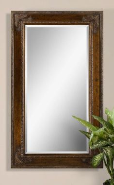 "Oversize 73"" ORNATE DARK Wood Wall Mirror * Be sure to check out this awesome product."