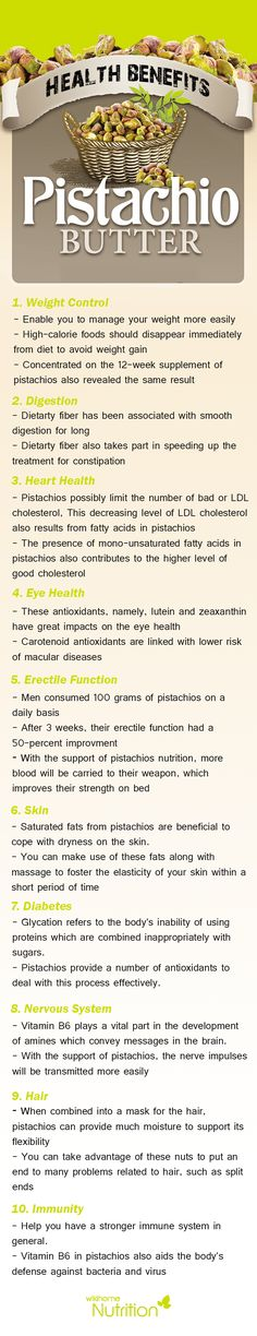 health benefits of Pistachio:In general, just by looking at pistachios nutrition facts, you can infer that these nuts have many important applications in the medicinal world
