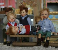 LOVE these naughty little boy miniatures. TOO STINKING CUTE!