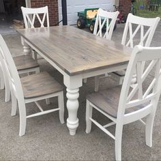 25 Awesome Farmhouse Dining Room Table Ideas Decor And Makeover. If you are looking for Farmhouse Dining Room Table Ideas Decor And Makeover, You come to the right place. Below are the Farmhouse Dini. Dining Table Makeover, Painted Kitchen Tables, Farmhouse Dining Room Table, Kitchen Table Makeover, Dinning Room Tables, Dining Table Legs, Chalk Paint Dining Table, Painted Farmhouse Table, Refinishing Kitchen Tables