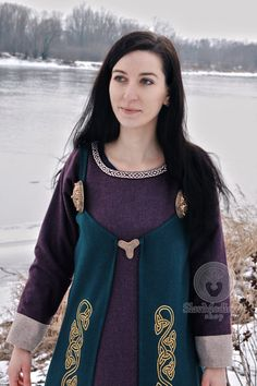 Scandinavian Apron Dress Early Medieval Viking Dress  Inspiration for my upcoming Larp character!