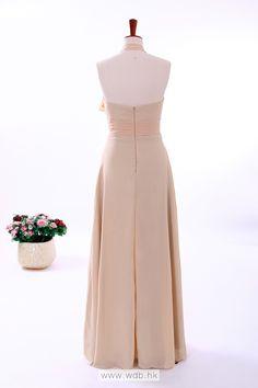 Halter Column Chiffon Bridesmaid Dress $149.99