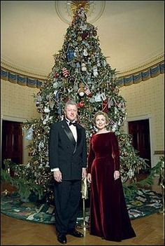 President Bill Clinton and First Lady Hillary Clinton pose in ...