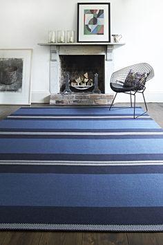 Franklin Indigo - seamed to create a rug