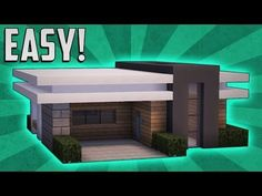 Minecraft: Easy Modern House Tutorial (#1)( Easy ) (PC/PE/Xbox/Playstation/) - YouTube